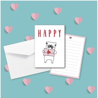 Postcard - Love Dog Collection - St valentin
