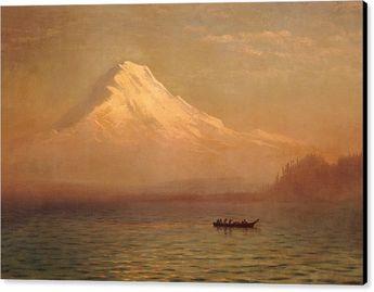 Sunrise On Mount Tacoma Canvas Print
