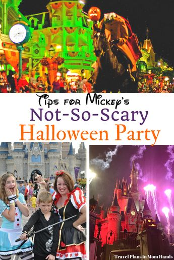 Planning on going to Mickey's Not So Scary Halloween Party at Disney World? We've got the tips to keep you from getting scared of missing anything. From ticket discounts to what attractions are open, costume rules, and what not to miss, you'll be sure to have a ghoulish good time! #MNSSHP #DisneyHalloween #HalloweenParty #MagicKingdom #DisneyHalloweenParty