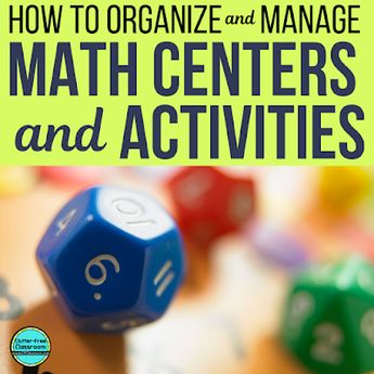 Math Centers, Games and Activities