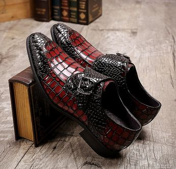 Handcrafted Men's Double Monk Strap Genuine Alligator Leather Modern Classic Dress Shoes