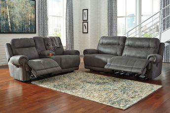 Cool Felyx 116 3 Pc Fabric Sectional Sofa With 2 Power Reclin Machost Co Dining Chair Design Ideas Machostcouk