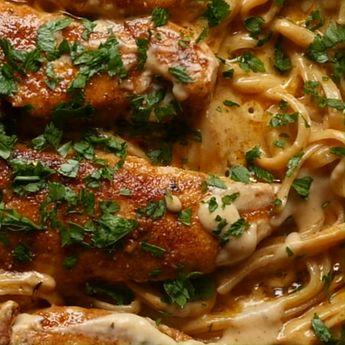 Chicken Lazone Pasta - New Orleans Sauce over pasta