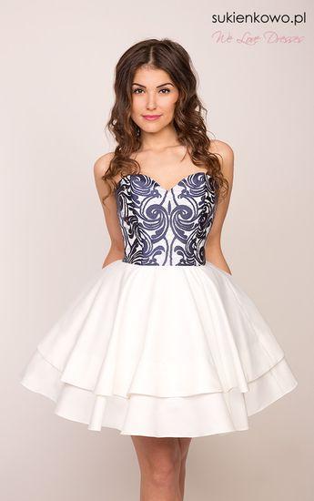 80fde3c03c Sukienka rozkloszowana z koronką. Sukienka rozkloszowana z koronką to  niezwykle oryginalne oraz modne rozwiązanie na