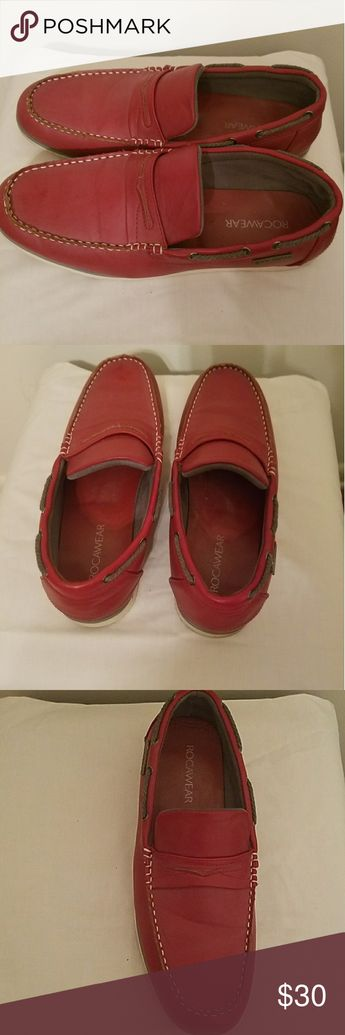 e9170ccf9f0b0 ROCAWEAR Red Penny Loafer Good Condition. Men Size 10. Red with white sole.
