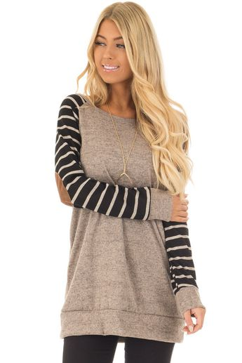 8c91ee09cbde Heather Grey Cyan and Ginger Color Block Sweater