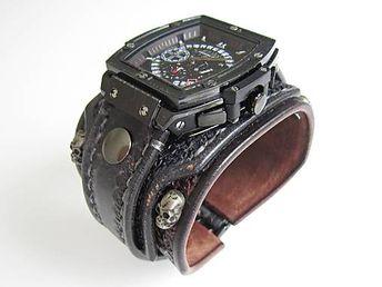 8d03c2872 Gotické hodinky II, hnedo-čierne / leon - SAShE.sk - Handmade Náramky