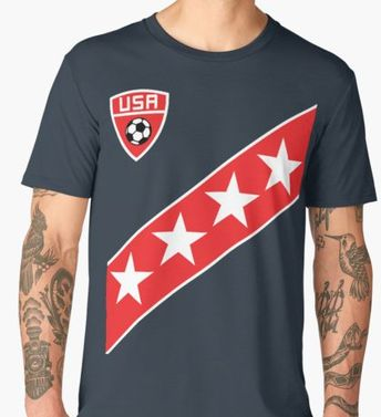 5b0052736 USA Jersey Shirt Soccer America Fan Stars and Stripes Flag