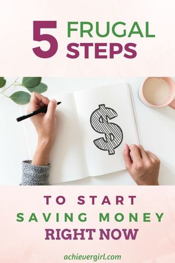 Just follow these five simple steps and you'll start saving money right away! #achievergirl #savingmoney #savemoney #frugalliving #moneytips