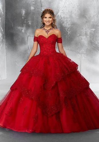 8e9a53036a9 Flounced V-Neck Quinceanera Dress by Mori Lee Vizcaya 89131