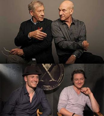 X-Men: Days of Future Past: Ian McKellen and Patrick Stewart are reprising their roles in the series opposite Michael Fassbender and James McAvoy as their younger selves.