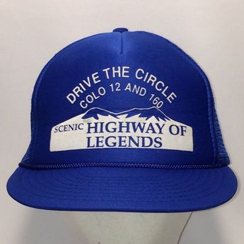 Vintage Trucker Hat Cap Foam Front Mesh Back Snapback Hats For Men Blue  White Colorado Scenic 06f01696a8bc