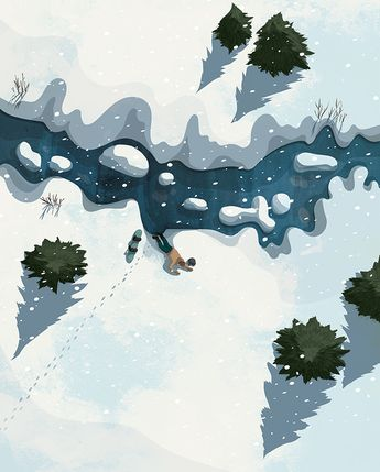 Kerry Hyndman | Illustrator | Central Illustration Agency #kerry #hyndman #digital #graphic #illustration #outdoors #wildlife #snow #nature #environments #adventure