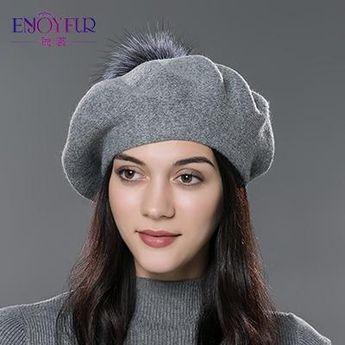 bb3e54dbaa7 Hats   Caps - Purple Relic  Winter Wool Hat With Soft Fur Pom Pom ~