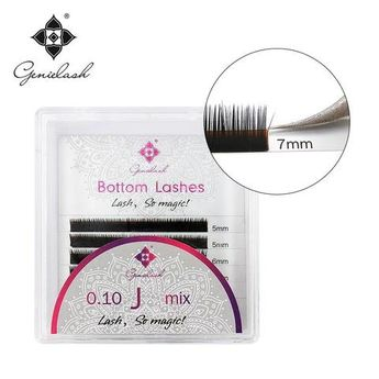 29371d941aa Genie 3pcs/Lot Bottom Mink Eyelash Extension J curl 5 6 7mm for Under False