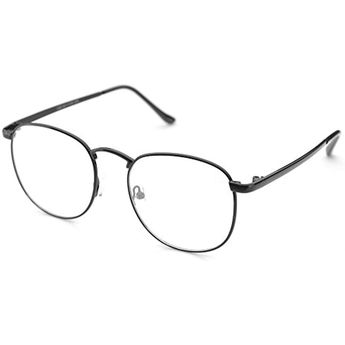 8fb1f34d082d Oversized Circle Metal Eyeglasses Frame Inspired Horned Rim Clear Lens  Glasses     You can