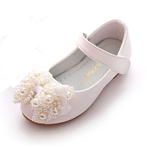 47f1aacb2b18 Girls  Shoes PU Spring Comfort   Novelty   Flower Girl Shoes Flats Bowknot    Beading