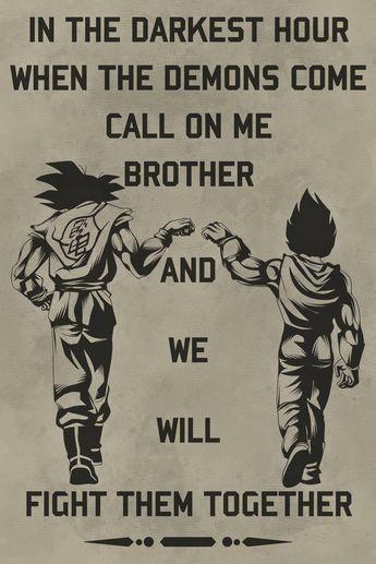 DR040 - Call On Me Brother - Goku - Vegeta - English - Dragon Ball Poster