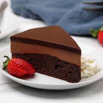 Triple Nutella mousse cake - #cake #desert #mousse #Nutella #Triple
