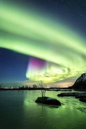 Nordlichter, Island - #auroraborealis #Island #Nordlichter