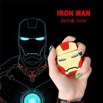 Cute Iron Man 3D Silicone Airpod Case