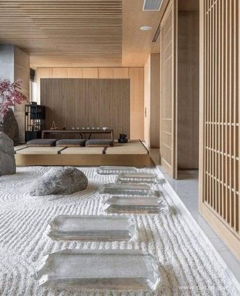 Sophisticated, lovely, & just darn freakin' fantastic, if inner peace were a room this place would be it. Now, can someone toss over a mat? I'm in the mood to meditate forever plus infinity. ✌🏼🖤 #saturdayzen | 📸: Huang Zhixun Design. . . . . . . #livingroom #livingroomdesig