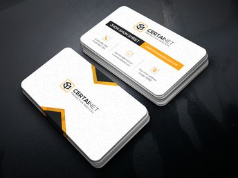 Brilliant Elegant Corporate Business Card Template - Graphic Templates