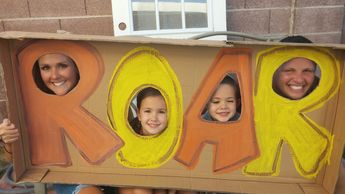 """Safari / Lion Theme party - """"Roar because I'm 4!"""" Ideas on Photo props, decor, food, and games!"""