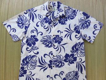 2dd7963d Hawaiian Shirt Men KY'S Hawaii Shirt Wild Funk-adelic Purple and White Mod  Pop Art