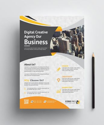 Brussels Creative Business Flyer Design Template 001637 - Template Catalog