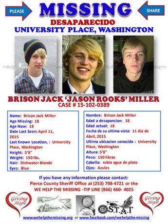 Investigators Seek Public's Assistance With The Missing Person Case of Brison Jack Miller
