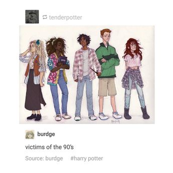 "harry potter & marauders on Instagram: ""Art credit to burdge and wizardnem on tumblr, respectively. Also Luna 100% wore butterfly clips you can fight me . It's funny how irl I…"""