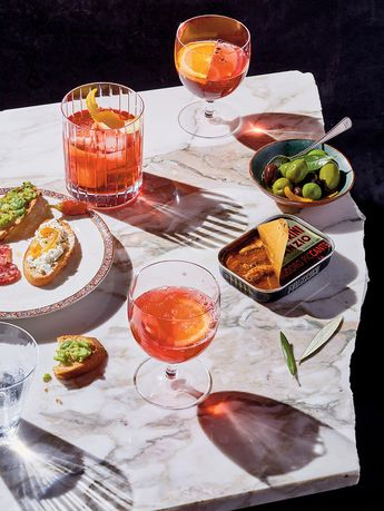 Partaking in aperitivo time, that easy stretch of sipping and snacking.