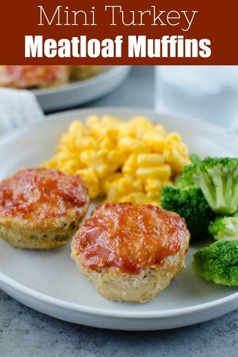 Mini Turkey Meatloaves - Turkey Meatloaf Muffins - Fake Ginger