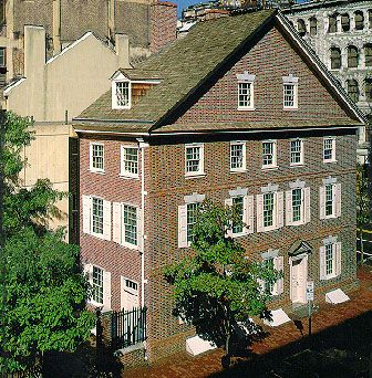 The Declaration House is the place where Thomas Jefferson wrote his draft of the Declaration of Independence. Today it is a house museum furnished in colonial manner with exhibits concerning Jefferson and a copy of his draft.
