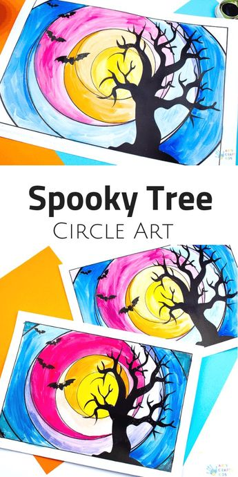 Spooky Tree Circle Art