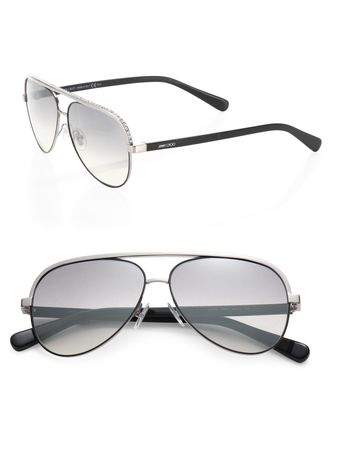 2a9074516993d Linas 59MM Metal Aviator Sunglasses by Jimmy Choo