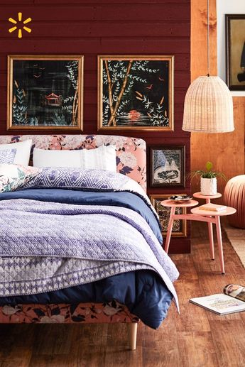Take your bedroom from basic to boho with this eclectic new collection curated by Drew Barrymore. Layer on the dreamy style with gorgeous prints, textures & vintage-inspired decor.