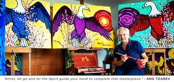 """Artist, let go and let the Spirit guide your hand to complete that masterpiece."" - Ana Tzarev"
