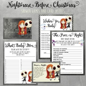 Top 5 Nightmare Before Christmas Baby Shower Games