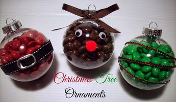 Christmas Ornament Craft with M&M's