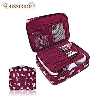 Fashion Travel Nylon beauty makeup bags water-proof cosmetics bags