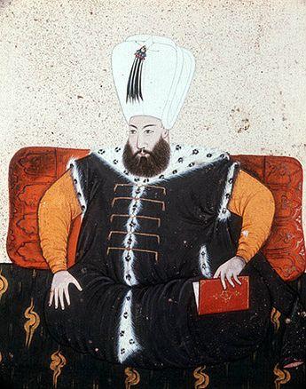 Sultan Mustafa I, 1617-18 and 1622-3, portrait from nineteenth century manuscript no 3109, Topkapi Palace Museum, Istanbul, Turkey