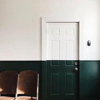 Half Dark Green Wall