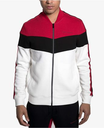 Sean John Men s Colorblocked Track Jacket - Gray S df4734177