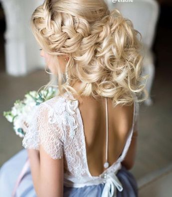 Wedding updo hairstyle idea via Elstile / www.deerpearlflow