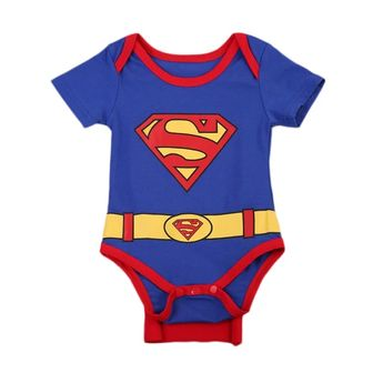 2018 Infant Baby Superman Clothes Infant Boys Bodysuit Jumpsuit Summer Kids Clothes Cartoon Summer Outfits SS