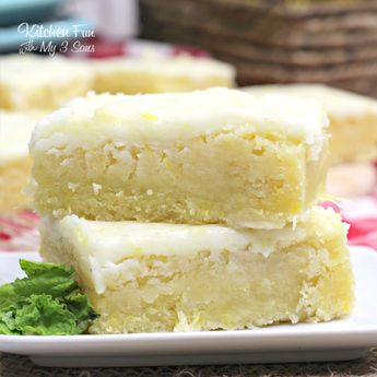 LEMON BROWNIES - Topped with a Delicious Lemon Glaze