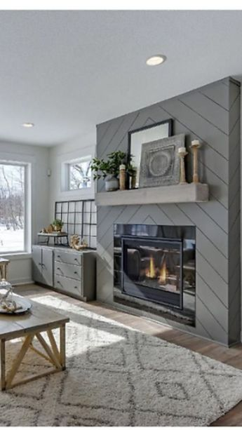 The Best Living Room Designs With Fireplace Which Will Become A Trend In Winter
