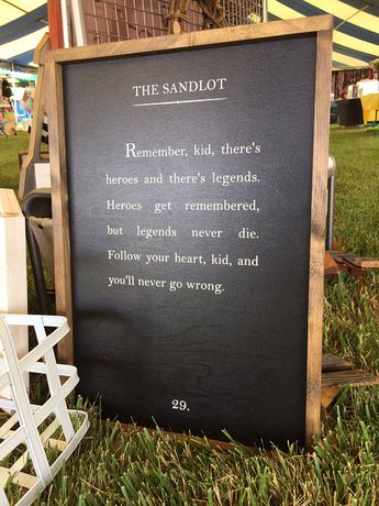 Baseball Sign - Wood Book Page Sign - Wood Quote Sign - The Sandlot Quote